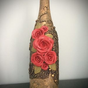 polymer clay bottle