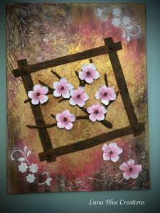 polymer clay on canvas