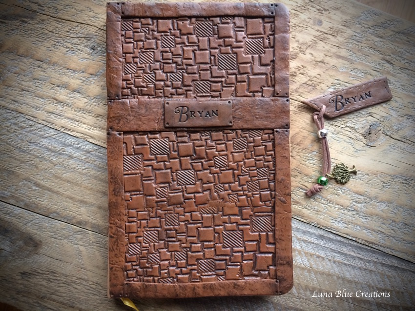 faux leather polymer clay journal