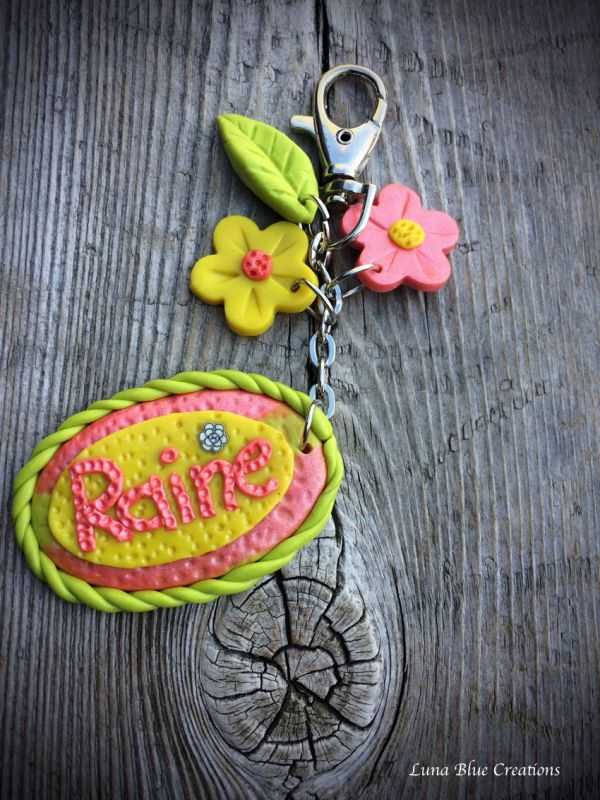 girls polymer clay keychain