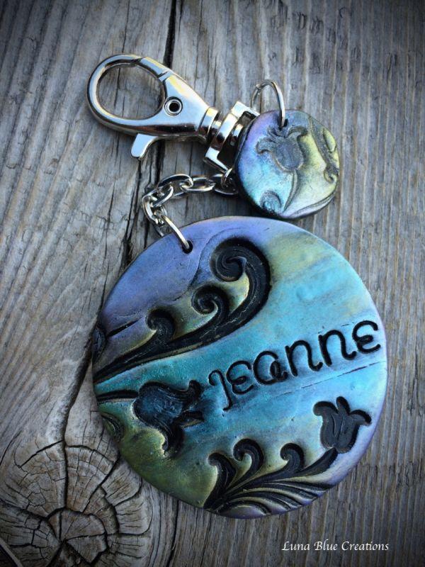 hand stamped keychain