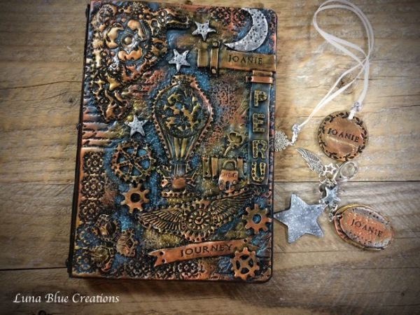 polymer clay travel journal