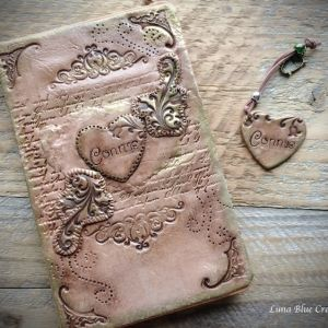 vintage polymer clay journal