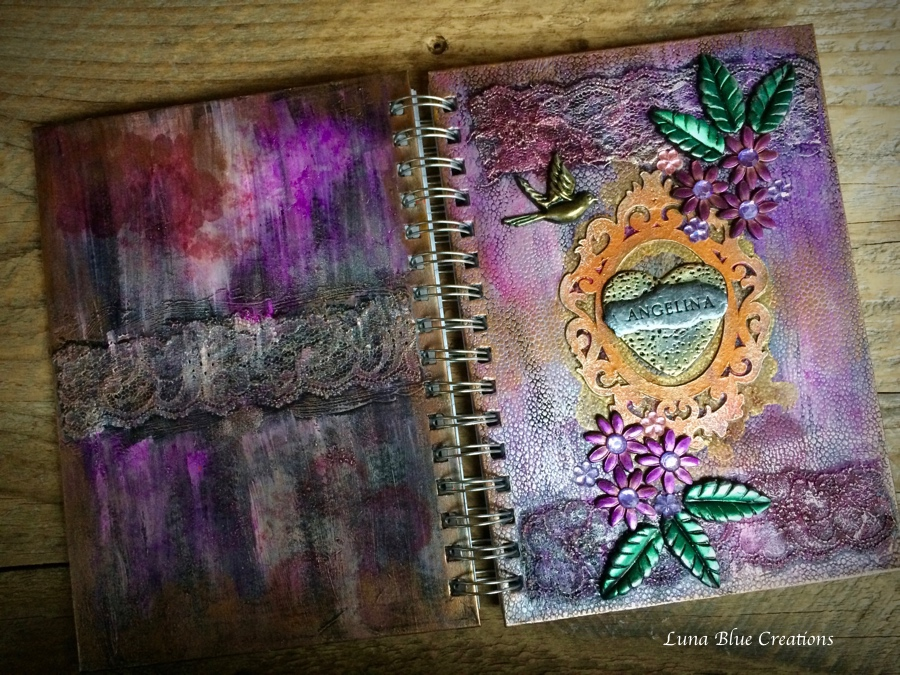 personalized mixed media journal